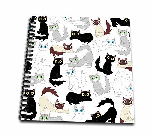 3dRose db 110774 1 Kawaii Cats Cute Drawing