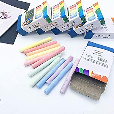 Liveday Mixed Colour White Chalk Sticks Pack Kids Playground School Art Learning: Home & Kitchen