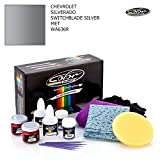 CHEVROLET SILVERADO / SWITCHBLADE SILVER MET - WA636R / COLOR N DRIVE TOUCH UP PAINT SYSTEM FOR PAINT CHIPS AND SCRATCHES / PRO PACK