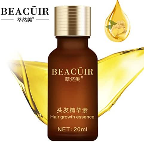 BEACUIR Hair Growth Essence Loss Scalp Treatments Ginger Genseng Raise Dense Stop Loss Liquid For Damaged Enhance Your Overall Condition 20ml
