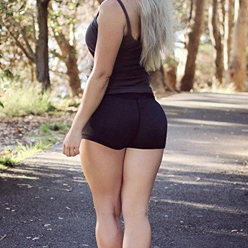 LAEMILIA Damen Sportunterwäsche Elastan Schlüpfer Nahtlose Unterwäsche Kurze Shapewear Hip Up Unterhose Former Hüfte Damenunterwäsche Schwarz VG06Vu