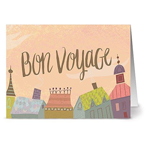 24 Note Cards - Bon Voyage - Blank Cards - Kraft Envelopes Included