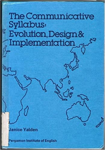 Amazon Com The Communicative Syllabus Evolution Design And Implementation Language Teaching Methodology Language Teaching Methodology Series 9780080286150 Yalden Janice Books