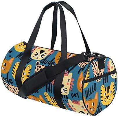 PONIKUCY Sporttasche Reisetasche,Süße Nahtlose Muster Blumen,Schultergurt Handgepäck für Übernachtung Reisen