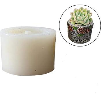 DIY Fleshy Flower Pot Silicone Mold Succulent Plants Concrete Planter Vase Molds Color Random (F)