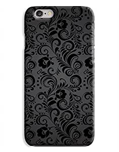 Black Damask iPhone 6 Plus Hard Case Cover