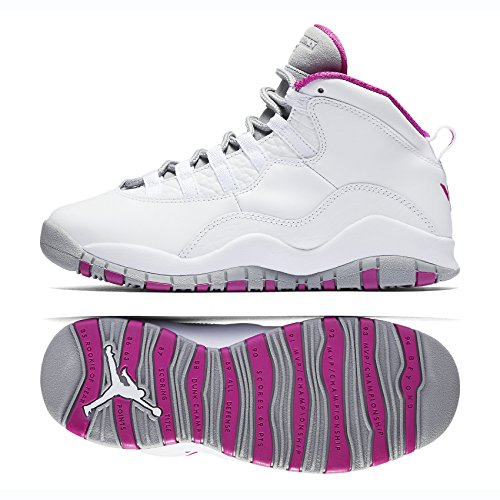 NIKE Air Jordan X 10 Retro Maya Moore MM GG AA2900-159 White/Fuchsia Flash Kids Shoes (8Y)