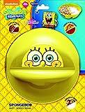 Just Solutions! Nickelodeon, Spongebob Squarepants Anti-Soggy Bowl for Cereal/Milk, Veggies/Dip, Fries/Ketchup, Yellow