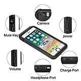 IPhone 6/6s Waterproof Case, Moliwa Waterproof Case(4.7in) OL Series 6.6ft Underwater Waterproof Shockproof Dustproof Snowproof Case with Vehicle-Mounted Design (Black)