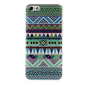 SHOUJIKE Green National Style Abstract Geometric Seamless Pattern Plastic Hard Case for iPhone 5C