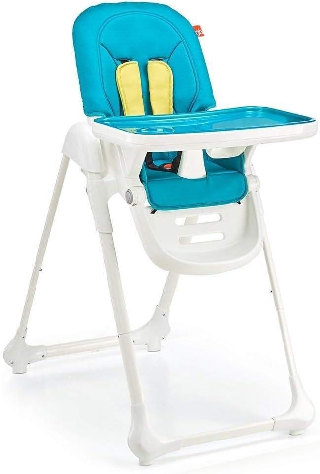 LAZ クッションやトレイで - ハイチェアダイニング幼児/幼児のためのダイニングチェアを摂食調節可能な赤ちゃんを折ります (色 : 青)