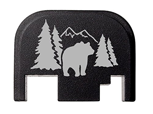 Shadow Billet - NDZ Performance for Glock 17 19 21 22 23 27 30 34 36 41 Rear Plate Blk G1-4 Bear Shadow Scene 2