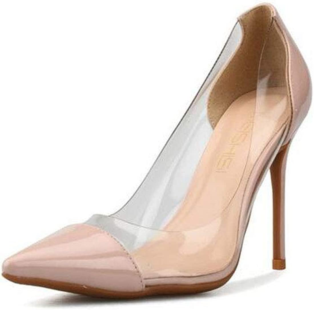 Solaso Womens Round Toe Platform Stiletto Slip On Pumps for Wedding Party Shoes