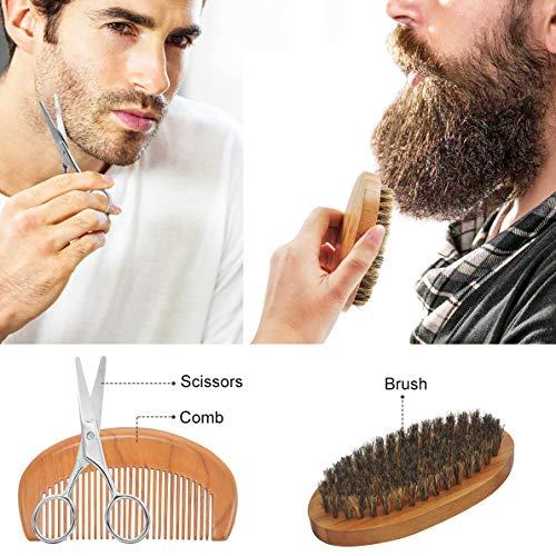 Upgraded Beard Grooming Kit w/Beard Conditioner,Beard Oil,Beard Balm,Beard Brush,Beard Shampoo/Wash,Beard Comb,Beard… 6