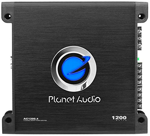 Planet Audio AC1200.4 Anarchy 1200 Watt, 4 Channel, 2/8 Ohm Stable Class A/B, Full Range, Bridgeable, MOSFET Car Amplifier