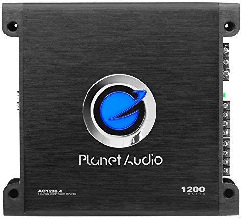 Planet Audio AC1200.4 Anarchy 1200 Watt, 4 Channel, 2/8 Ohm Stable Class A/B, Full Range, Bridgeable, MOSFET Car Amplifier 4 Channel Amp