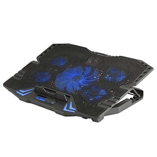NGS Gaming Laptop Cooler with 5 Fans and LCD Screen - GCX-400 by Ngs