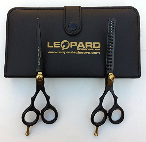 Left Hand Professional Hairdressing Scissors with Case- Barber Scissors and Thinning Shears / Cutting Scissors Set 6