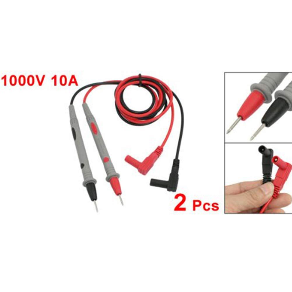 10A de Prueba del mult/ímetro Digital de Cable de la sonda mult/ímetro Sonda de Cable de Alambre Newin Star 2 Pcs mult/ímetro Digital 1000V 10A de Conductores de Prueba del Cable de la sonda 1000V