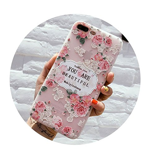 Rose Floral Leaves Cases For iPhone X 8 7 6 6S Plus 5617 For iPhone 8 Plus