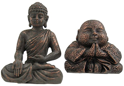 Grasslands Road Mini Buddha Figurines - Set of 2