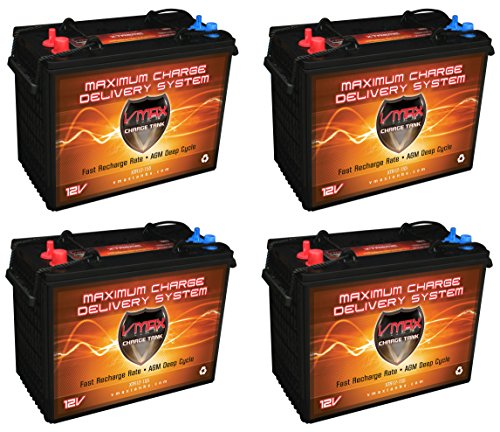 Qty(4) Xtr12-155 Group GC12 Golf Cart 12v AGM - Golf Cart Batteries 12 Volt