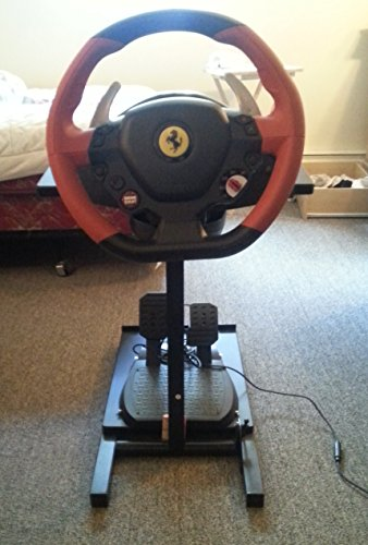 thrustmaster ferrari 458 spider racing wheel w stand and. Black Bedroom Furniture Sets. Home Design Ideas