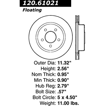 Centric Parts 120.61022 Premium Brake Rotor with E-Coating