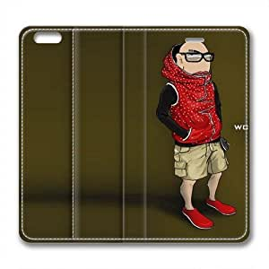 Enjoy happy life iphone 6 plus leather Case,iphone 6 plus Cases ,Red Vest 'WC Boys' Custom iphone 6 plus(5.5)High-grade leather Cases