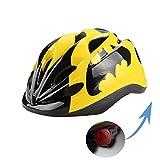 Toys : Atphfety Kids Bike Cycling Helmets Warning Tail Light Protective Gear for Toddler Child Children,Multi-Sport Safety Helmet for Skateboard Skate Scooter Roller