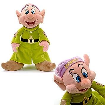 Disney Oficial Blancanieves y El 31cm siete enanitos Mudito suave peluche de juguete