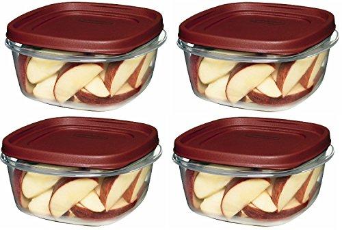 Rubbermaid 759284539132 Easy Find Lid Food Storage Square 5
