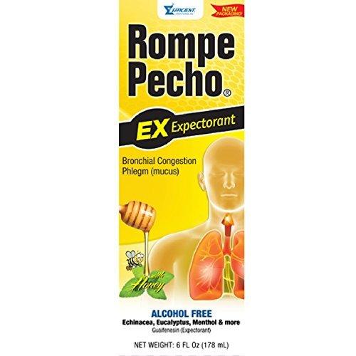 Rompe Pecho Expectorant Liquid With Honey, 6 oz (Pecho Rompe Cough Syrup)