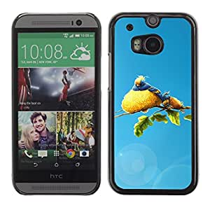 LECELL -- Funda protectora / Cubierta / Piel For HTC One M8 -- Cute Bird Family --