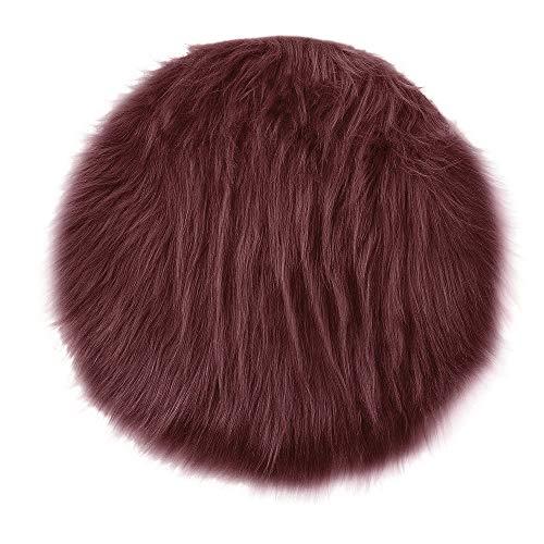 Bathroom Rug Mat Doormat - Bath Mat Carpet - Wool Imitation Sheepskin Rugs Faux Fur Non Slip Bedroom Shaggy Carpet Mats Decor - Thanksgiving Day Carpet Mats -