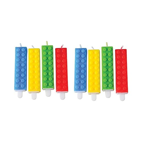 Building Block Themed Birthday Cake Candles