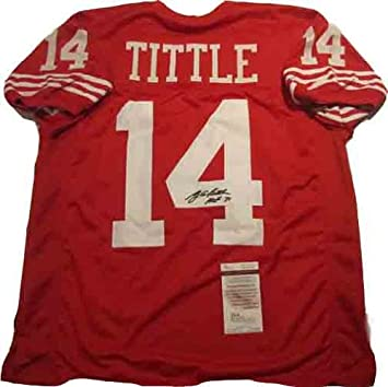 100% authentic b773a ca90d YA Tittle Autographed Signed 49ers Jersey at Amazon's Sports ...