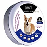 Jmxu's Furry FIDO Flea & Tick Prevention for Dogs and Cats, Flea and Tick Collar for Dogs and Cats, One Size Fits All! 25 inch, Allergy Free, 8 Month Protection