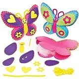 Kits de Couture Coussins Papillons que les Enfants pourront Fabriquer, Décorer et Exposer (Lot de 2)