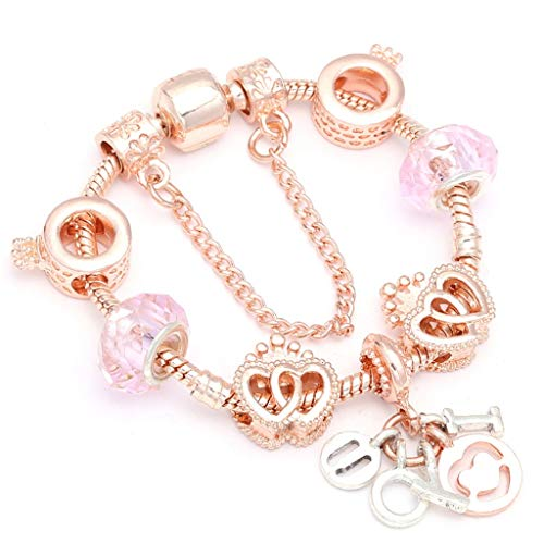 Gift for Girlfriend Crimson Crystal Beads Charm Anklet Bracelets with Heart Pendant Snake Chain Fine Bracelets for Ladies Jewelry Gift Dropshipping Design