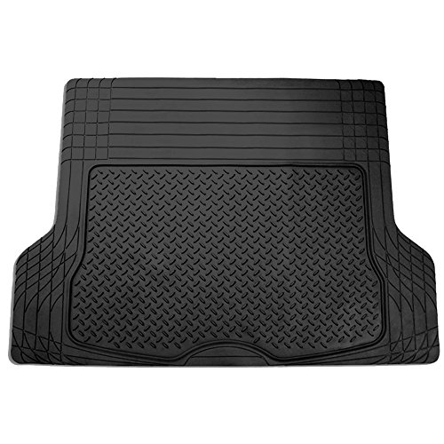 2006 Mustang Floor Mat - FH Group F16400BLACK Black All Season Protection Cargo Mat/Trunk Liner (Trimmable) Size 55.5