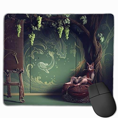 Sphynx Bald Cat Sphinx Naked Nature Art Mouse Pads Computer Laptop Keyboard Mousepad Office Space Home Decor Mouse Mats Accessories 7.1 X 8.7 X 0.1 Inches -