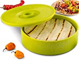 KooK Tortilla Warmer, Lime Green, 8 inch, Holds up to 12 Tortillas