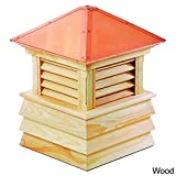 Good Directions Dover Wood Shiplap Cupola with Copper Roof 18'' x 25''