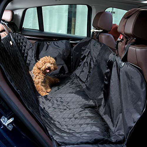 Cheap Docamor Upgraded Pet Seat Cover for Cars Trunks and SUVs-Waterproof Car Back Seat Protectors-Non-Skid Durable 600D Oxford Fabric Hammock Convertible Mat