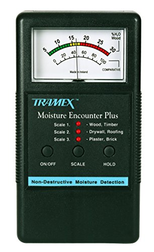 MEP Tramex Non Destructive Encounter Plus Moisture Meter, Measuring Range: 5% to 30% for wood and 0 to 100 Comparative for Other Materials from Tramex meters