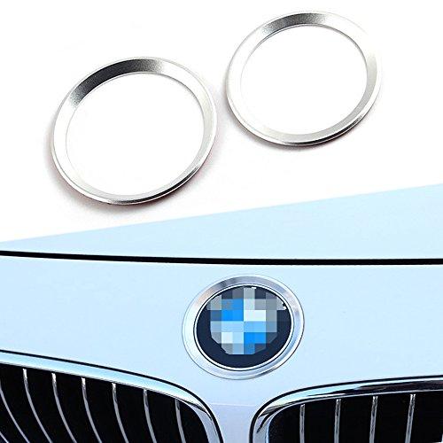 Thor-Inst Steering Wheel Center Decor Logo Ring Trim For BMW New 3 Series 320 GT5 Series X1 X 3 X4 X 5 X6 E46 E30 E34 E36 E39 E53 E60 E90 Aluminum Diamond Decoration Car Sticker Bling