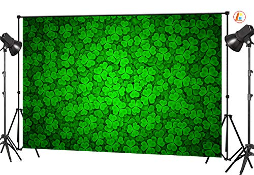 LB St.Patricks Day Backdrops for Photography 9x6ft Vinyl Green Shamrocks Spring Backdrop Customized Party Decorations Photo Studio Background -