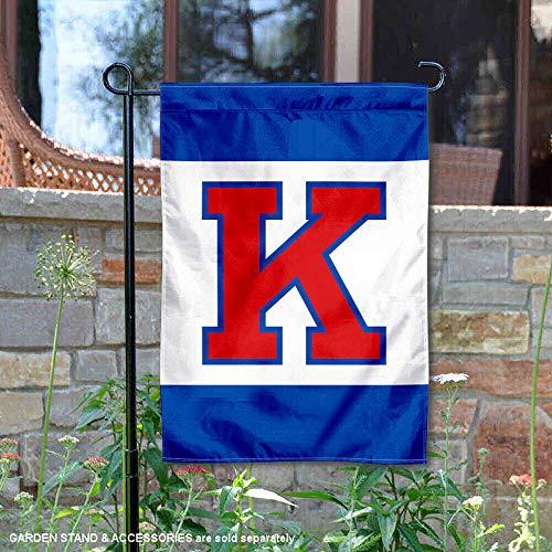 (Kansas Jayhawks Big K Garden Flag and Yard Banner )
