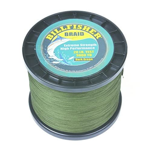 Image of Artificial Bait Billfisher BB3000-20 Braid, 20 lb/3000 yd, Dark Green